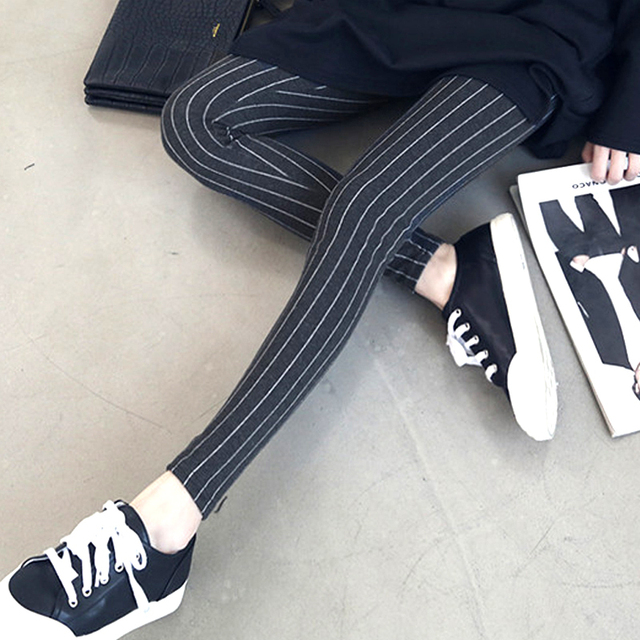 New Spring/Summer Maternity Stripes Leggings, Casual Embroidery Pants for Maternity Women,Plus Size Clothes For Pregnant Women