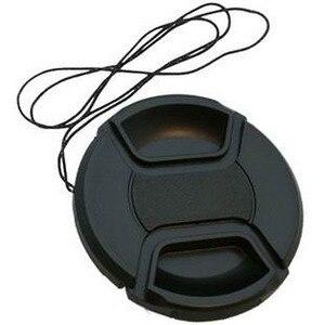 Image 2 - 100pcs/lot 49 52 55 58 62 67 72 77 82mm center pinch Snap on cap cover Logo for canon nikon camera Lens