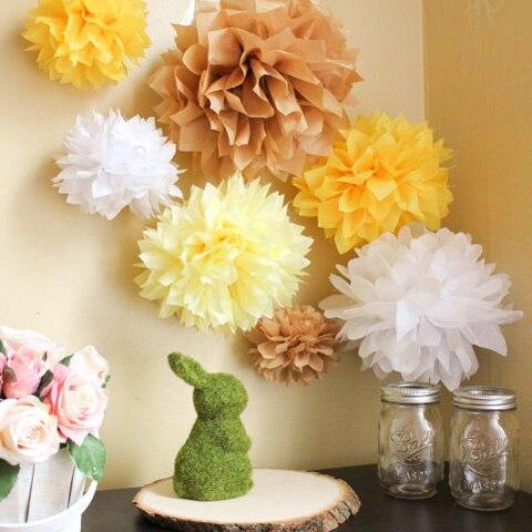 cm inch unids hotsale de papel bolas de flores pompones de papel de