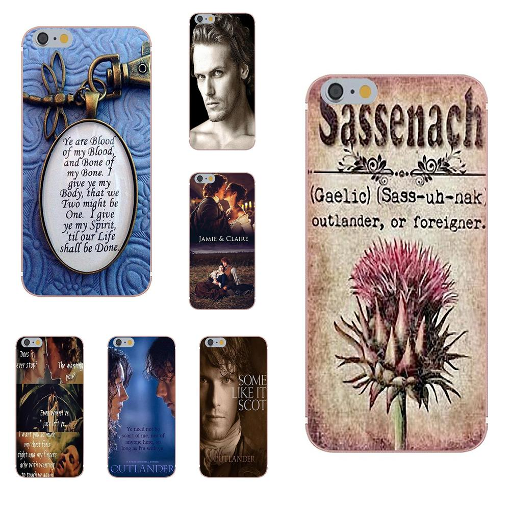 Oedmeb Soft TPU Art Online Cover Case For Apple iPhone X 4 4S 5 5C 5S SE 6 6S 7 8 Plus Outlander Tv Jamie Fraser Printed image