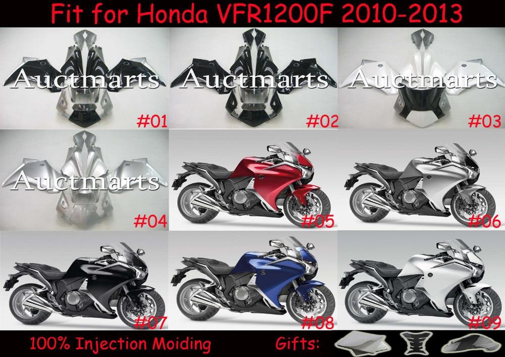 Fit pour Honda VFR1200F 2010 2011 2012 2013 Injection ABS En Plastique moto Carénage Kit Carrosserie VFR 1200F 10-13 VFR 1200 F C001