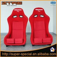 2017 New 2Pcs Black Red Cloth Stitching Racing Seat FABRIC MATERIAL FIBER GLASS Car Sports Racing Seats