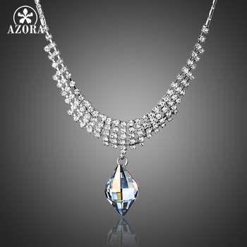 Waterdrop Austrian Crystal & Tiny Pendant