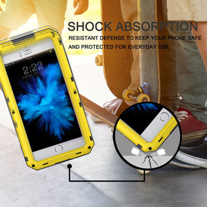 Image 4 - 안티 충격 하이브리드 터프 헤비 메탈 Shockproof 갑옷 케이스 아이폰 X 8 7 6 6S 플러스 5 5S SE 보호 커버 유리 필름