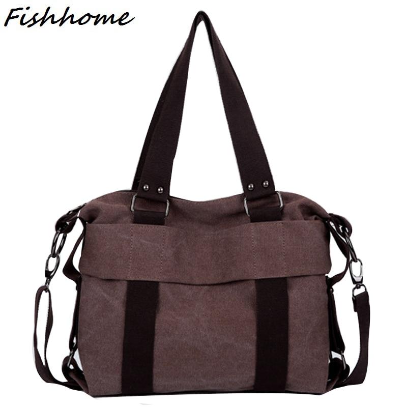Famous designer Brand Retro Canvas Women Handbag Fashion Casual Messenger Bags L