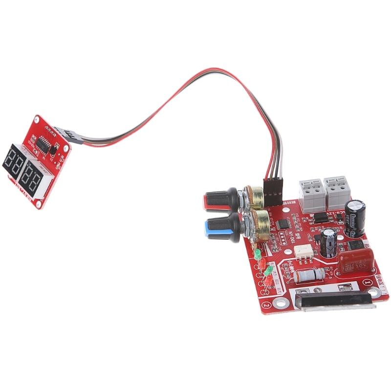 Tempo de solda a ponto e painel de controle do controlador de corrente dentada atualização 100A atual com display digital