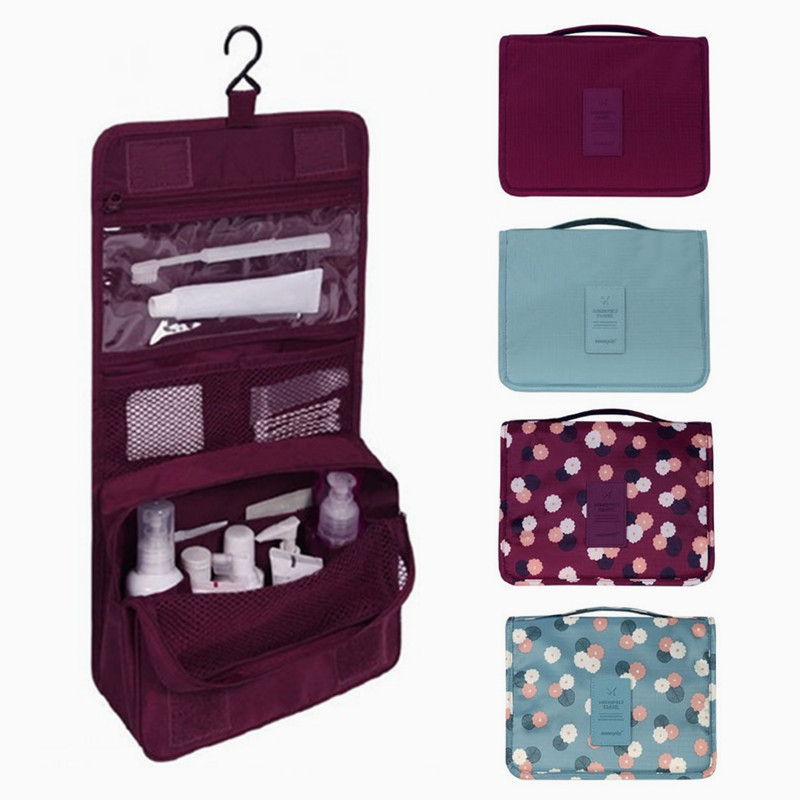 Women Unisex Hanging Toiletry Travel Storage Bag Cosmetic Carry Toiletry Organizer For Traveling Bathroom Convenient Washing Bag