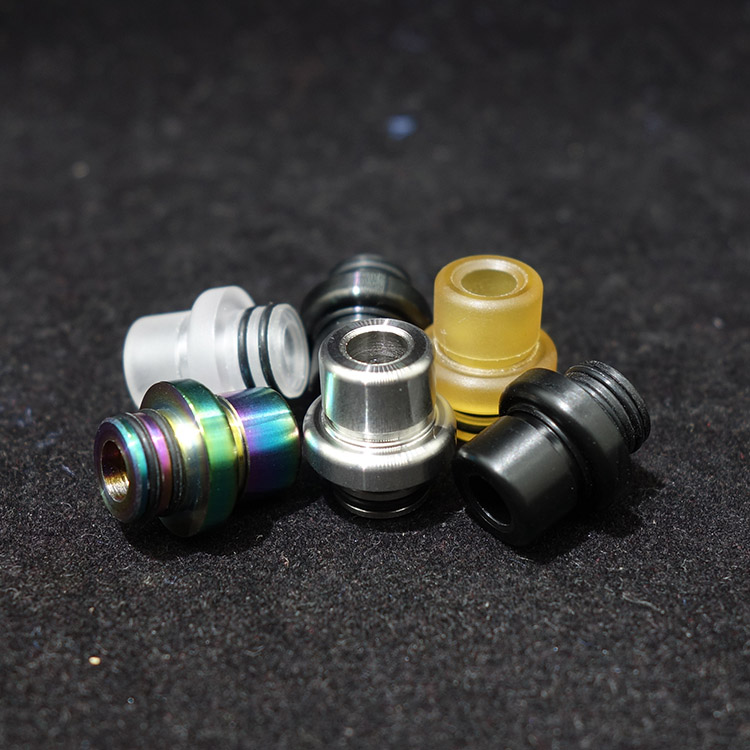 T9 Style Mtl Drip Tip 510 Mini Stainless Steel Pei Pom Mouthpiece For Melo 4 Vape Tank Accessories