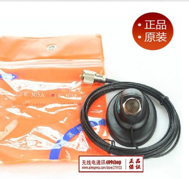Япония качество радиолюбителей косые магнитное основание К-303 с 4 meters 1.5D тефлон мини потеря коаксиальный кабель PL-259 разъем
