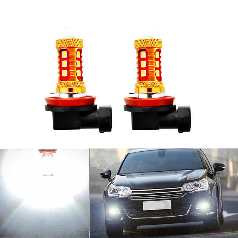 DOTAATDW 2x Super White <font><b>H8</b></font> H11 <font><b>CREE</b></font> Chip 3030 <font><b>LED</b></font> Fog Light Driving Bulbs For Mitsubishi Lancer 2010-2014 Mitsubishi Asx image