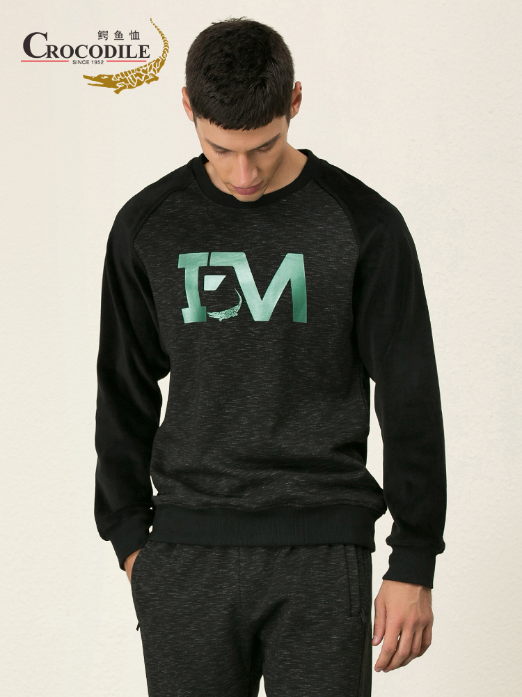 Crocosport Men Warm Trainer Exercise Sweaters Men Sport Hoodies Running Shirt Gym Apparel Top Pant for Men Sportswear Set