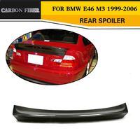 Carbon Fiber Car Rear Wing spoiler For BMW E46 M3 4Door 1999 2006