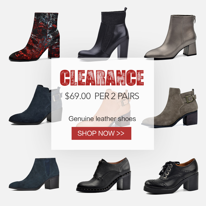 Clearance Sale Donna in Ankle Boots For Women Genuine Leather High Heel Pointed Toe Fashion Booties