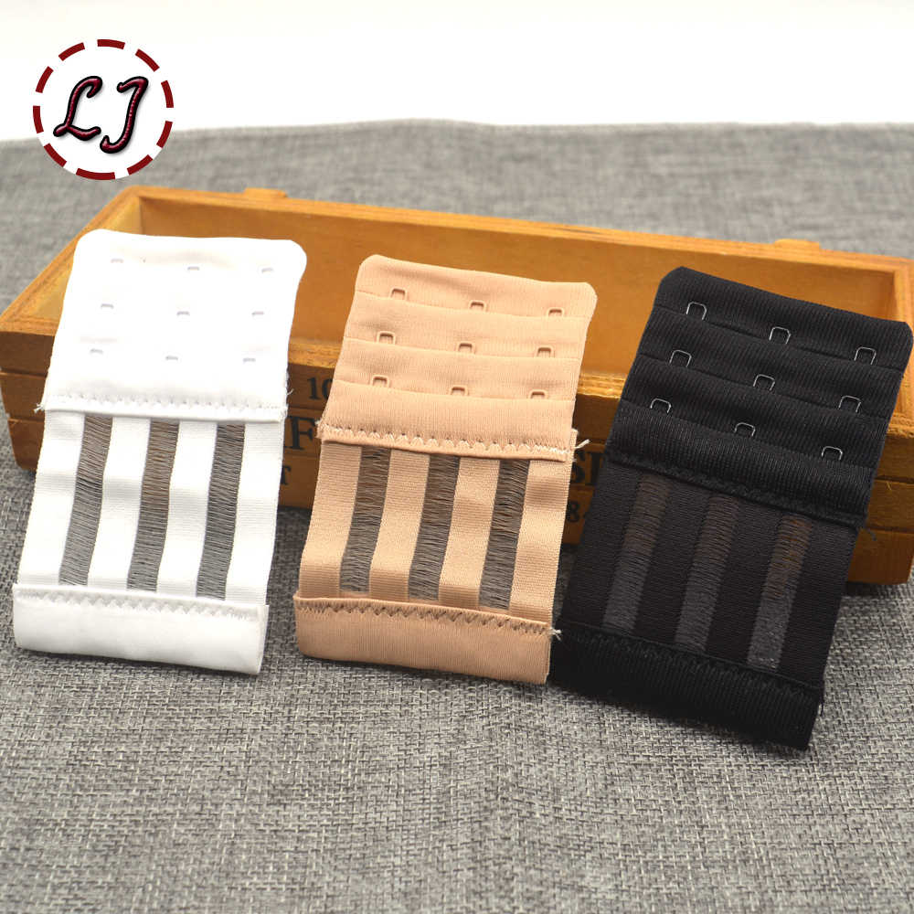 High quality Ladies Useful black white Bra Extenders Strap clasp Extension 3 Hooks 3 Rows Adjustable Belt Buckle accessory DIY