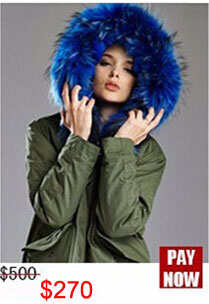 Factory wholesale price Women's Vintage Retro Fur Hooded Military Parka Jacket Coat with pink lined and collar fur mr 17