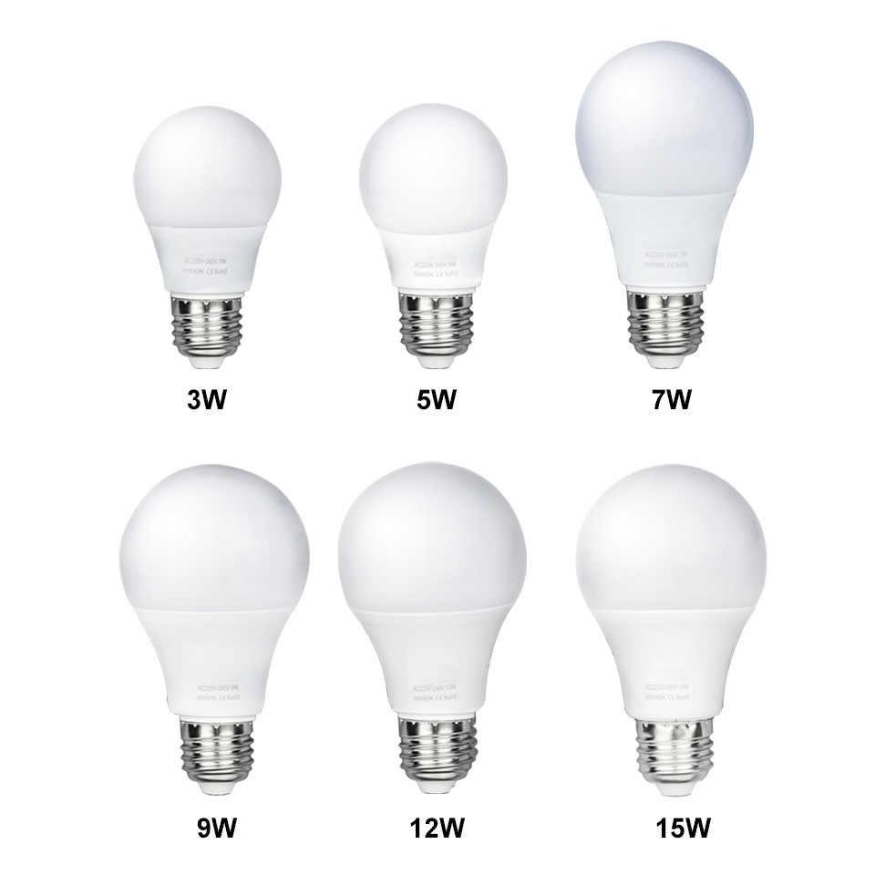 LED Bulb E27 3W 5W 7W 9W 12W 15W Smart IC LED Light Cold White Warm White AC 220V Lampada Ampoule Bombilla Lamp Lighting