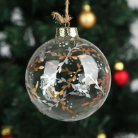 Dia10cm Handmade Christmas Tree Glass Ball Pendant Christmas Trees Willow Twigs Ornament Holiday Party Decoration X