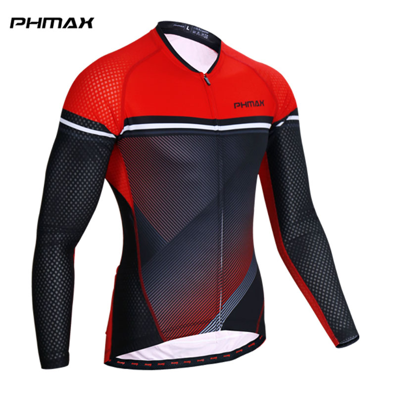 PHMAX Cycling Jersey Long Sleeve MTB Bike Clothing Bicycle Clothes Wear Maillot Roupa Ropa De Ciclismo Spring Cycling Clothing