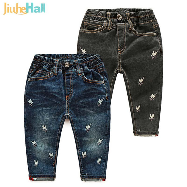 High Quality 24M-6T Baby Boys Jeans Cartoon Embroidered Kids Cowboy Pants Spring Autumn Children's Fashion Trousers CMB694