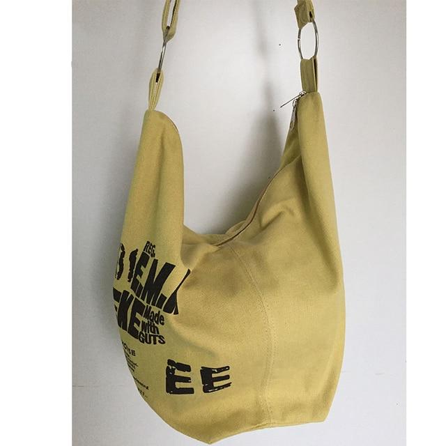 2019 Black Korean Over Shoulder Bags Women Female Irregular Canvas Crossed Body Crossbody Handbags Bag Ladies N Messenger Bags 4