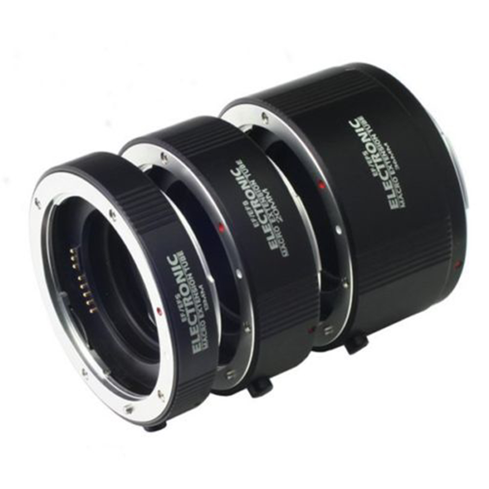 FOTGA électronique Macro AF Auto Focus Extension automatique Tube anneaux Set baïonnette en métal pour Canon EF/EF-S monture lentille - 5