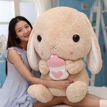 Dorimytrader cuddly soft cartoon bunny plush toy pillow big stuffed anime rabbit doll Christmas gift decoration 3 sizes DY61819
