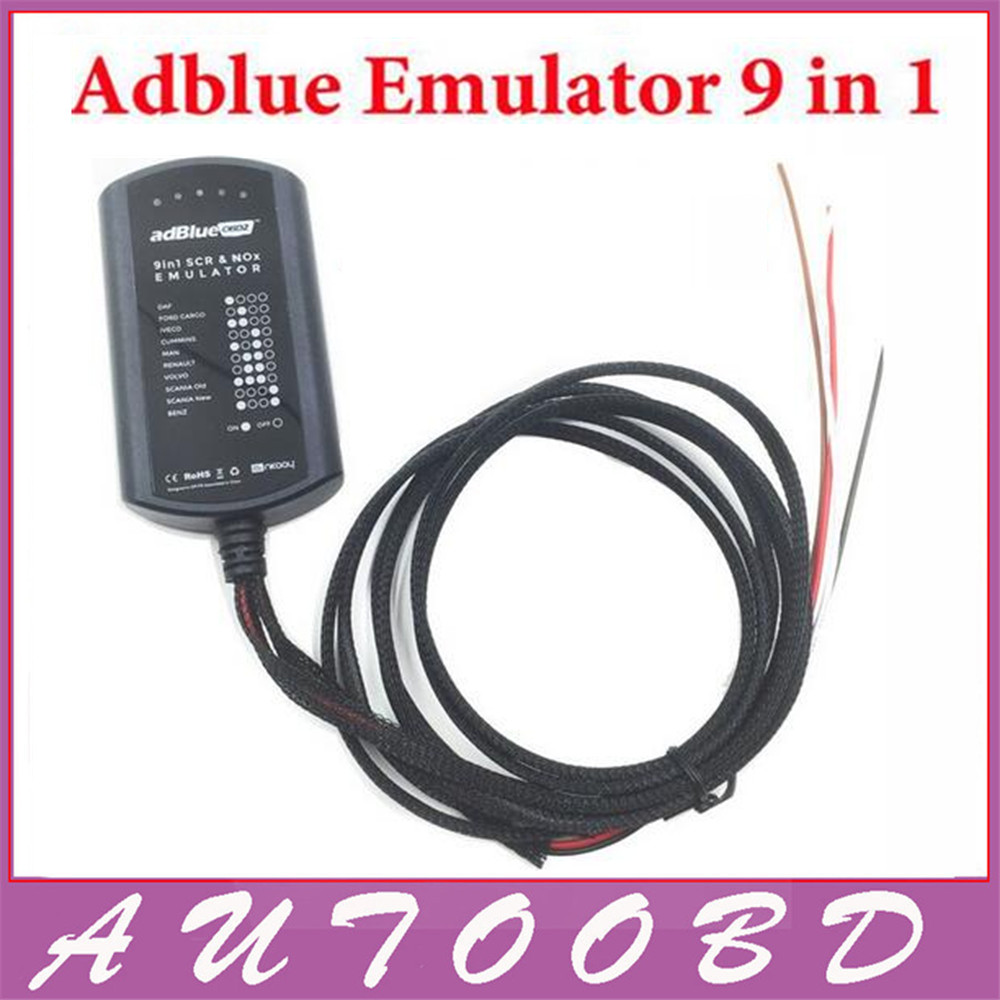 ФОТО (10PCS/lot) New 9in1 Universal Adblue Emulator 9 in 1 for M-ercedes/MAN,/Sc-ia/ Iveco/DAF/V-lvo/ Re-nault/ FD DHL Freeshipping