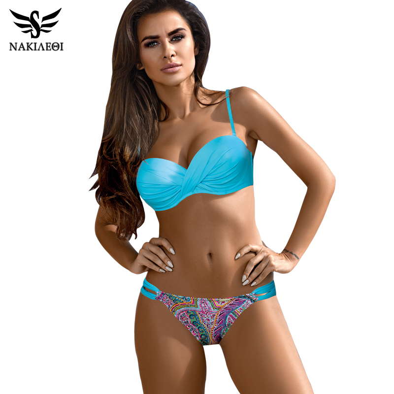 NAKIAEOI 2019 New Arrival Sexy Bikinis Women Swimsuit Push Up Swimwear Summer Beach Bathing Suits Plus Size Bikini Set Swim Wear|Bikini Set|   - AliExpress