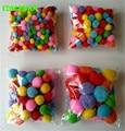 HAPPYXUAN 10mm-50mm Color Multicolor Pompoms pom-pom Kindergarten DIY Art Craft Materials for Creative Kids Early Educational