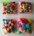 Happyxuan 10mm-50mm cor multicolor pompons pom-pom jardim de infância diy arte artesanato materiais para crianças criativas cedo educacional