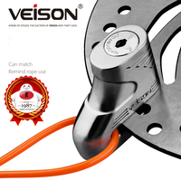 VEISON Alloy Motorcycle Brake Disc Lock Motorbike Rotor Shock Lock Safety Security Key Bicycle Disc Bike Cycling Lock