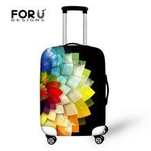 Colorful fleur impression extensible bagages protecteurs accessoires de voyage femmes bagages couvertures protectrices valise Protections