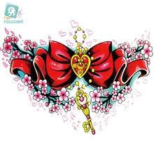 Rocooart lc 401 Сейлор Мун женские большие тату наклейки красивое