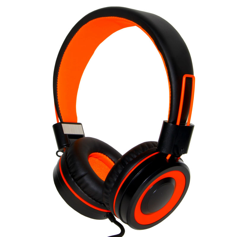 Rockpapa 882 Orange Black DJ Styel Stereo Foldable Adjustable High Quality Headphones with Mic for Music