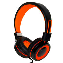 Rockpapa 882 Orange&Black DJ Styel Stereo Foldable Adjustable High Quality Headphones with Mic for Music Travle Kids Girls Boys