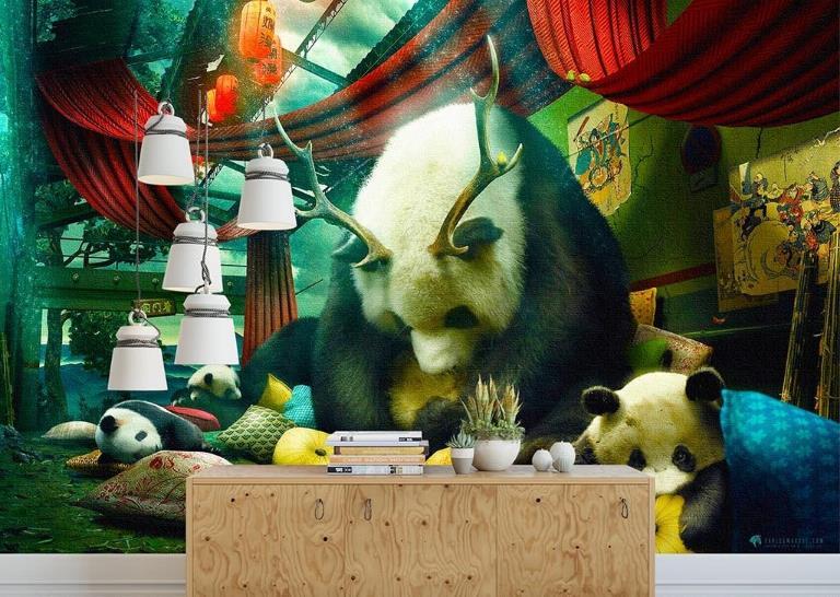 3d фото обои настроить ручная роспись творческая гостиная Спальня Обои животного ТВ фон