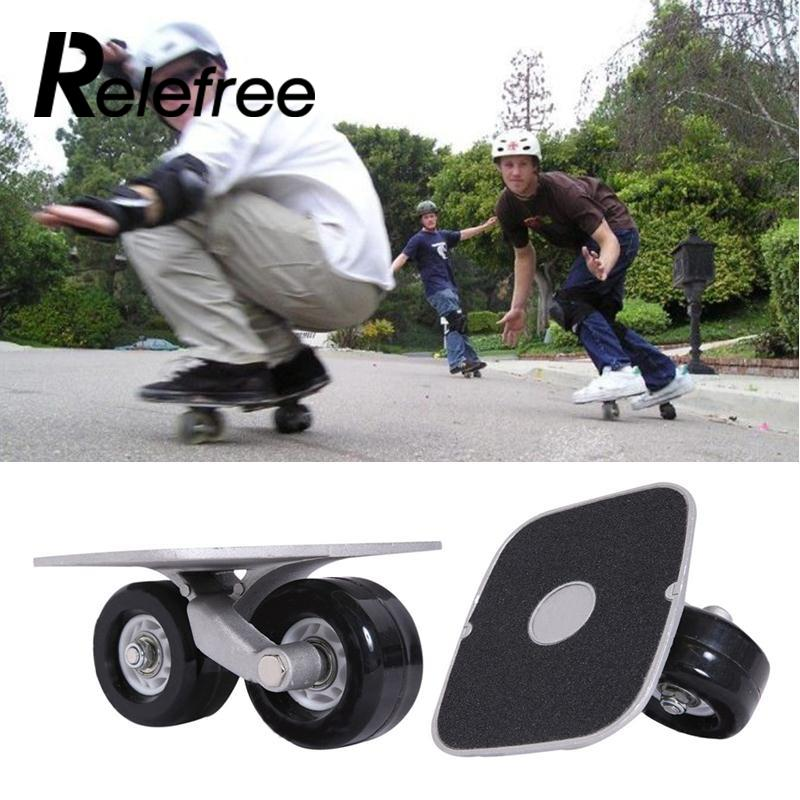 Relefree Cool Portable Freeline Metal Drift Board Parts Skate Wheels W/Bearings For Outdoor Sporting Performance Xmas Gift стоимость