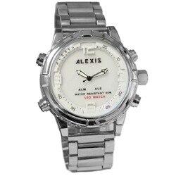 Alexis marka Elegan inteligentne srebrne anacyfrowe zegarki dla mężczyzn zegarek led montre homme horloges mannen kwarta zegarek w Zegarki cyfrowe od Zegarki na