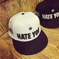 2016 lovers HATE YOU embroidery tide brim snapback baseball cap hat bone casquette caps