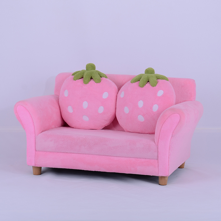 Top Kids Toddlers Sofa Lounge Couch Strawberry Double Seat Children  AG94
