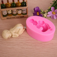 Hot food grade silicone mold 3D baby soap mold silicone bakeware fondant cake decorating tools