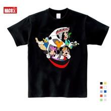 Kids Cartoon Mickey Children's T Shirts Mouse Short Sleeve T-shirt Donald Baby/Boy/Girl t shirt summer O-Neck tee shirt 3T-9T donald weis t t solo rules