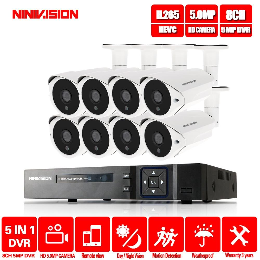 New Super 5MP HDMI H.265 AHD DVR NVR Kit P2P 36 pcs leds CCTV Câmera Ao Ar Livre Sistema De Câmera De Segurança De Vídeo vigilância Visão APLICATIVO