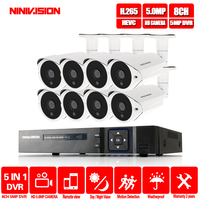 New Super 5MP HDMI H.265 AHD DVR NVR Kit 36pcs leds CCTV Camera System Outdoor Camera P2P Video Security Surveillance APP View