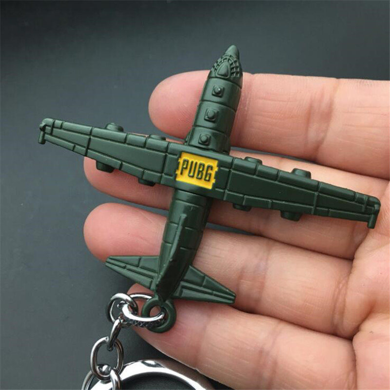Costume Props Game Pubg Signal Gun Keychain Playerunknowns Battlegrounds Weapons Alloy Cosplay Props Alloy Armor Model Key