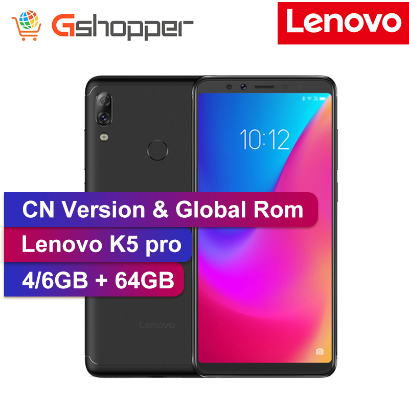 Global Firmware Lenovo K5 Pro 4GB/6GB 64GB 4G LTE Mobile Phone Snapdragon 636 Octa-core 16MP Dual Front Back Camera Fingerprint