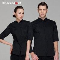 Free Shipping Waiter Uniform Checkedout Waiter Clothes Cheapest Restaurant Waiter Shirt