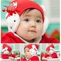 Oferta especial caliente del invierno sombreros del bebé del casquillo del oído de conejo doble doble de conejo conejo de dibujos animados arco tapa