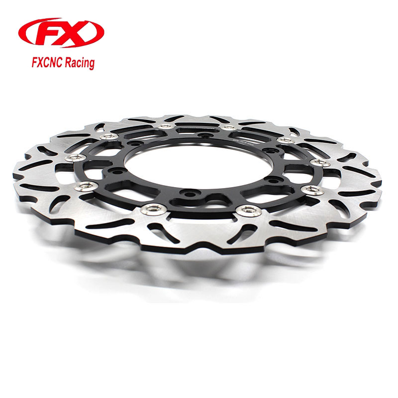 Motorcycle 320mm Floating Front Brake Disc Disks Rotor For YAMAHA YZF R1 R6 XJR1300 XVS1300 XV1700 XV1900 VMX12 FZS FAZER TDM mfs motor motorcycle part front rear brake discs rotor for yamaha yzf r6 2003 2004 2005 yzfr6 03 04 05 gold