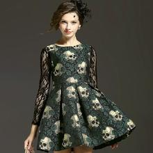 """Women 's new Europe and the United States A word big skull printing cultivate one' s morality dress"